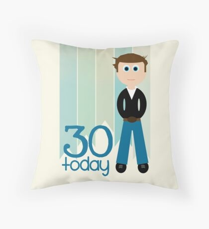 Happy Birthday - 30th Birthday, Male Throw Pillow