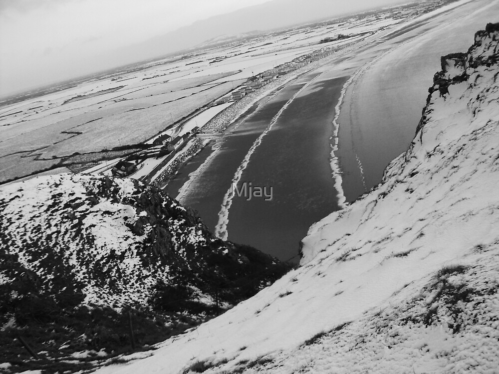 Brean Down Snow Scene by Mjay