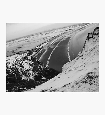 Brean Down Snow Scene Photographic Print