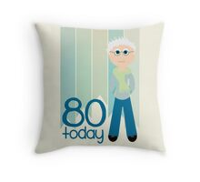 Happy Birthday - 80th Birthday, Male Throw Pillow