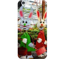 Bunnies with Baskets...Easter is Coming! iPhone Case/Skin