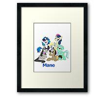 Too Manestream Framed Print