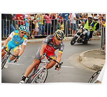 Lance Armstrong racing - 2010 Poster