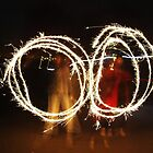Slow shutter speed, sparklers by Gemmka