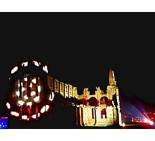 Spot Lights On Whitby Abbey  Photographic Print