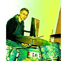 Stu Doughty, Drummer Photographic Print