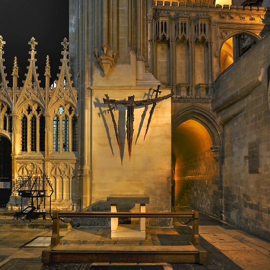 the death of thomas becket in canterbury cathedral Following becket's death, the monks prepared his body for burial  were placed  beneath the floor of the eastern crypt of the cathedral  canterbury, because of  its religious history, had always seen.