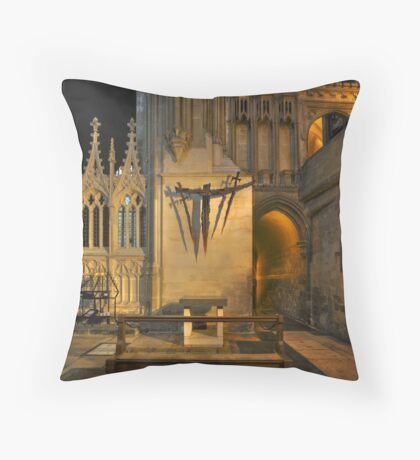 Shrine to Saint Thomas Becket Throw Pillow