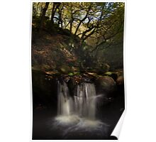 Padley Gorge waterfall Poster