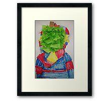 Rene' Magritte inspired art by Abby age 8 Framed Print