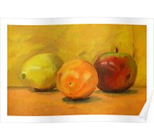 Orange, Lemon, and Apple Poster