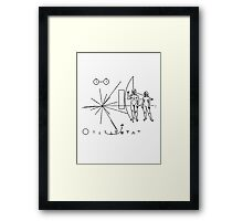 Rock the Universe - modified pioneer plaque Framed Print