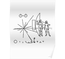 Rock the Universe - modified pioneer plaque Poster