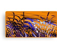 Modern Art IX variation of orange and blue Canvas Print