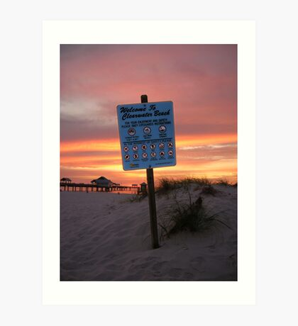 Welcome To Clearwater Beach Art Print