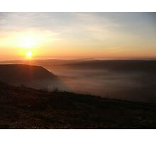 Fog over the Vale of York, Yorkshire, UK Photographic Print