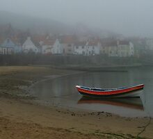 A Misty Day In Staithes, North Yorkshire, UK by Nick Barker