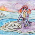 polar bears by: stephanie allison  www.redbubble.com/people/stephallison  by artists4wildlfe