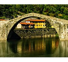 Single span of il Ponte del Diavolo, Lucca, Tuscany, Italy Photographic Print