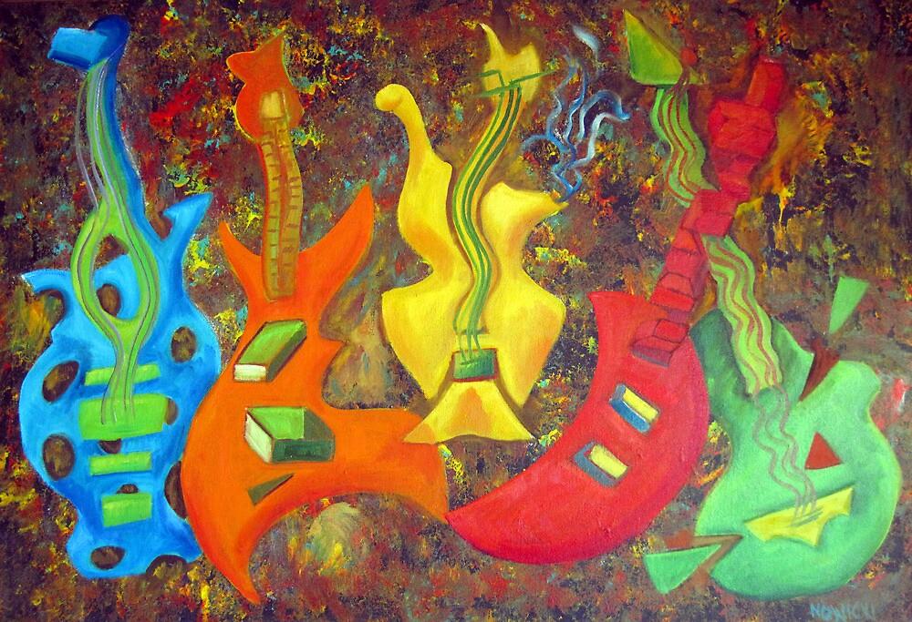 FIVE GUITARS by IRENE NOWICKI