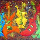 FIVE GUITARS by IRENE NOWICKI