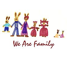 Easter Bunny Family Photographic Print