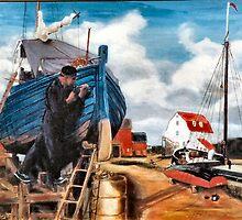 Fishing Boat Repair by Woodie