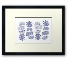 Pineapples (Sliced) Framed Print