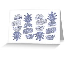 Pineapples (Sliced) Greeting Card