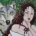 grey wolf by: lady hokasai  www.myspace.com/408344536 by artists4wildlfe