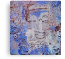 Indigo Blue Buddha #6 Canvas Print