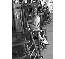 Boy in Rocking Chair Photographic Print