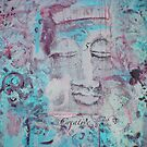 SKY BLUE Chakra Buddha #5 by Marti   Schmidt