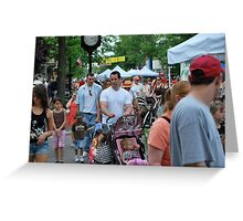 Dads day at the fair Greeting Card