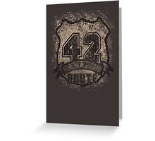 ROUTE 42 - don't panic Greeting Card