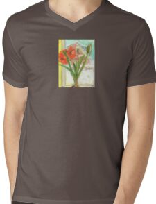Amaryllis Mens V-Neck T-Shirt