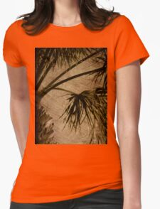 Vintage Palm Womens Fitted T-Shirt