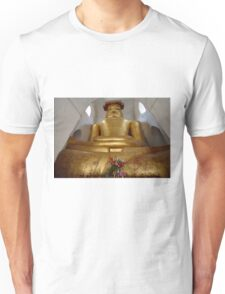 cramped Buddha statue in MA-NU-HA TEMPLE Unisex T-Shirt