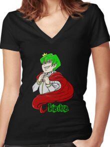 Kaiba green hair Yu-Gi-Oh! Women's Fitted V-Neck T-Shirt