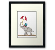 Vintage Circus Elephant Framed Print