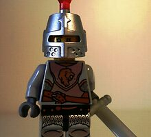 Lion Knight Minifigure, Armor with Lion Head and Belt by Customize My Minifig