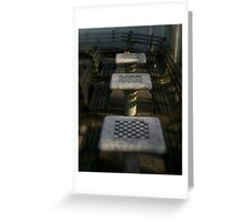 Checkered Tables Greeting Card