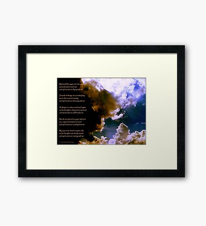 Birth of a Song - the image Framed Print