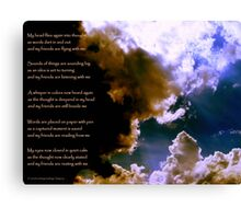 Birth of a Song - the image Canvas Print