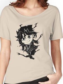 Yugi Muto Black Aibo Wicked avatar Yu-Gi-Oh! R Women's Relaxed Fit T-Shirt