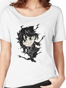 Yugi Muto Black Aibo Wicked avatar Yu-Gi-Oh! R Women's Relaxed Fit T-Shirt