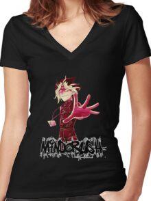 Yami Yugi Yu-Gi-OH! Mind Crush Women's Fitted V-Neck T-Shirt