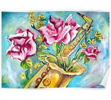 BLOOMING SAX Poster