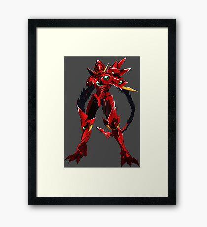 High School DXD Born Issei Hyoudou Red Dragon Framed Print