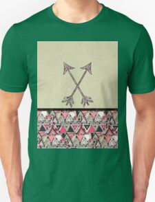 Retro Tribal Arrows Vintage Earth Aztec Pattern Unisex T-Shirt